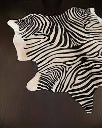 zebra skin rug hide faux uk