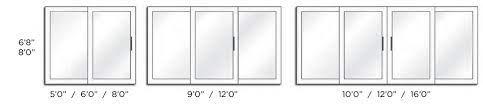 47 standard sliding glass door size