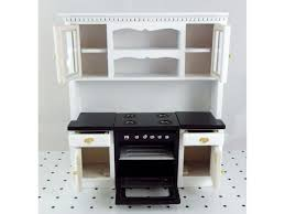 furniture miniature. Dolls House Miniature Fitted Kitchen Furniture Black And White Oven Unit Cupboards I