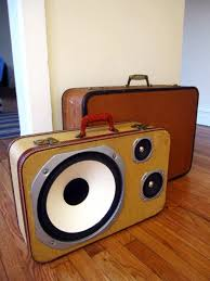 Boom Cases by Mr. Simo are repurposed suitcases turned into speakers.