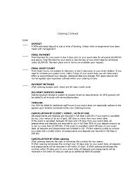 catering contract sample wedding catering contract sample