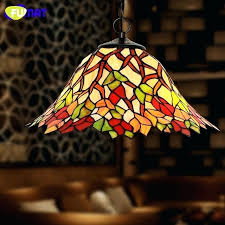 stained glass pendant lights large space lighting modern