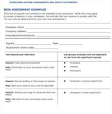 Assessment Example Example Of Risk Assessment Report Template Best Sample Examples Form ...