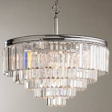 modern glass chandelier lighting. modern faceted glass layered chandelier convertible lighting d