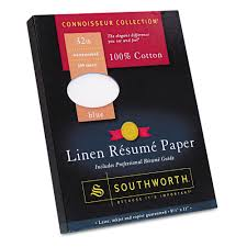 Southworth Resume Paper Southworth 244% Cotton Linen Resume Paper Blue 244 Lbs 24424424 X 244244 16