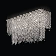 contemporary ceiling light rectangular crystal led