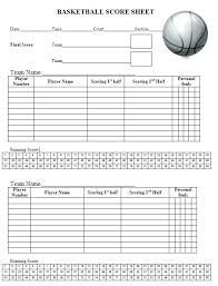 Baseball Score Sheet Templates Tee Ball Template Literals