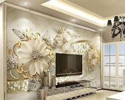 Aliexpresscom Buy Beibehang Behang Luxury Gold 3d Three