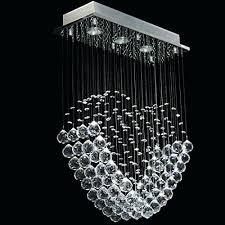 modern crystal ball chandelier raindrop light lighting fixture deluxe love heart fashion rain drop fixtur crystal ball chandelier