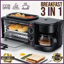 LÒ NƯỚNG ĐIỆN ĐA NĂNG, BẾP NƯỚNG GIA DỤNG 10 Lít với 3 chế độ ( Nướng - Hấp  + Chiên - Máy pha Coffee tiện dụng đình )