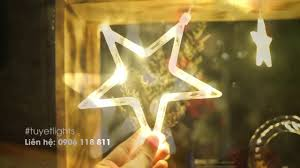 Dây đèn LED trang trí giáng sinh hình ngôi sao lấp lánh - YouTube