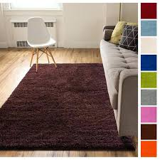 rug care solid retro modern brown 2 x runner area rug plain plush easy