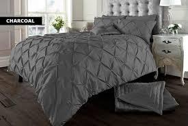 pin tuck duvet cover set wowcher