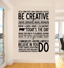 office wall decal. Creative Text Wall Decals Office Contemporary Inspirational Modern Handmade Typing Writtings Communicate Impress Decal