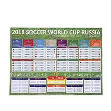Kobwa Russia 2018 World Cup Stickers Wall Chart Poster Football Tournament Schedule Soccer Calendar Bar Party Decorations 57 X 42 Cm World Cup