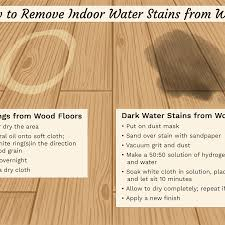 how to remove indoor water stains from wood