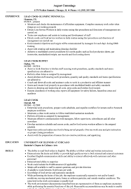 Prep Cook Resume Sample Lead Cook Resume Samples Velvet Jobs 56