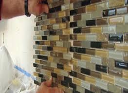 Installing Glass Mosaic Tile Backsplash Interesting Decorating