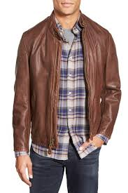 image of schott nyc 654 cafe racer leather jacket
