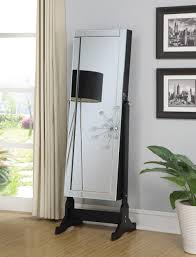 awesome mirrored jewelry armoire for your furniture and storage ideas mirrored over the door jewelry