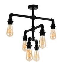 steampunk lighting. Luiggi Steampunk 6 Way 3 Tier Ceiling Light In Black Steampunk Lighting L