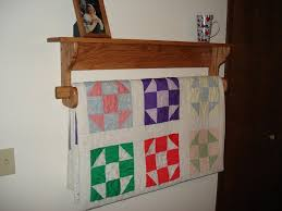 Wall hanging Quilt Rack and Shelf - by Mork @ LumberJocks.com ... & Wall hanging Quilt Rack and Shelf Adamdwight.com