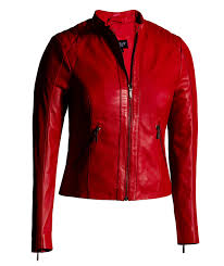 red leather jacket for women moto fashion genuine leather jacket