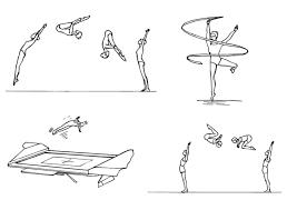 Kleurplaat Gymnastiek Afb 10125 Images
