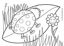 Printable Flower Coloring Pages For Kids Printable Flower Coloring