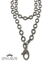the woods fine jewelry long pave diamond chain