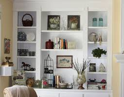 Built In Wall Shelves Living Room Shelves Beautifully Decorated Transitional Living