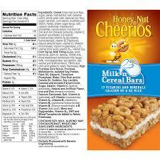 honey nut cheerios milk n cereal bars treat bar 8 5 oz 6 ct walmart