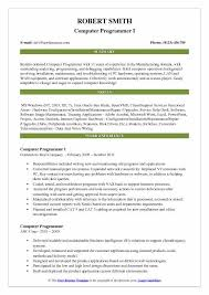 Sample Computer Programmer Resume Computer Programmer Resume Samples Qwikresume