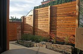 Interesting wood fence and stone flower beds, beautiful yard landscaping  ideas ...