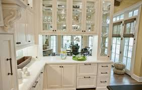 kitchen moldings: glass  beautiful ways to work glass into your kitchen cabinets