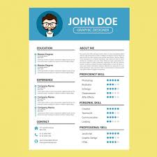 curriculum template blue curriculum template vector free download