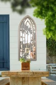 arched outside garden wall mirror