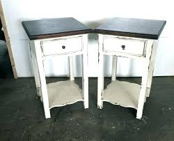 white distressed round end table side tables distressed side