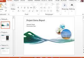 Project Progress Report Sample Project Progress Report Powerpoint Template