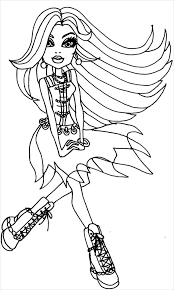 Dancing Monster Coloring Page monster high coloring page 20 free psd, ai, vector eps format on young anime girl template