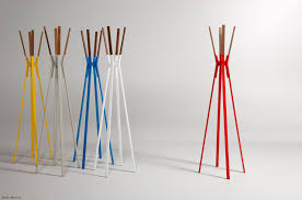 Amazing Design Of The Colorfull Modern Coat Rack With Four Legs Design  Ideas For Clothes