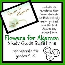 best flowers for algernon images flowers for flowers for algernon study guide questions