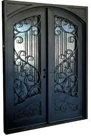 iron glass doors exterior black iron sliding glass doors