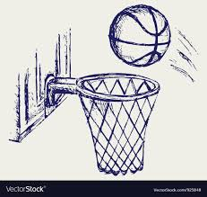 Basketball Drawing Pictures Basketball Ball Royalty Free Vector Image Vectorstock