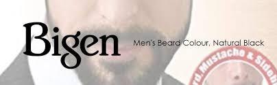 Bigen Mens Beard Color Natural Black B101 40g