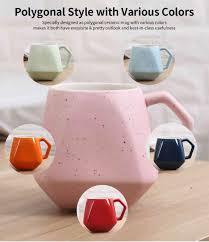 <b>Polygonal</b> Style <b>Ceramic Coffee</b> Milk <b>Mugs</b>, Colorful Stylish ...