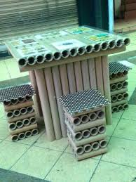 recycled paper furniture. UPcycled Cafe: Recycled Paper Roll Furniture S