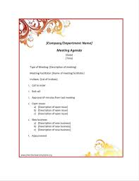 Agenda Templates In Word Board Meeting Agenda Template Word Best Template Non Profit Board 15