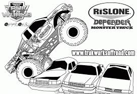 Small Picture Coloring Pages Max D Monster Truck Coloring Page Free Printable