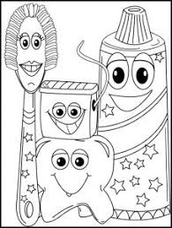 Small Picture Teeth Printables for Preschool and Kindergarten Dental health